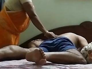 Desi Maid Massaging And Helping Man For Mastarbation