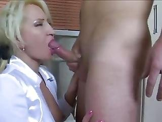 Pretty Blonde Milf Secretary In Stockings Needs A Young Cock