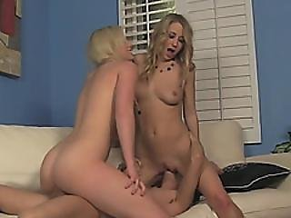Hot Blonde Babysitter Sami Is Banged Hard In A 3some