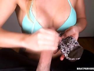 Kinky Handjob With Her Dirty Socks