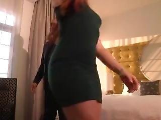 Sexy Redhead Milf In Tight Dress Dancing & Shaking Her Big Juicy Ass On Cam
