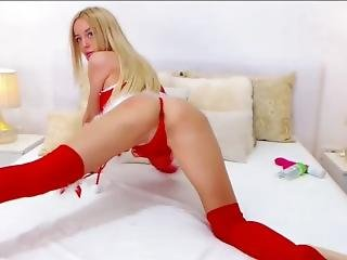 Hot Webcam Girl 50: Nobody Like You, Sexxy Blue, In Christmas Lingerie