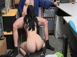 Violet Rain Goes Down To Her Knees Again And Start Cleaning The Lp Officers Pipe