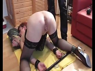 My Mature Slave Gwen With Her Big Loose And Used Cunt I Always Tie Her Up, Tease Her With A Hitachi, Punish Her, Before Fisting Her Deep In Her Cunt