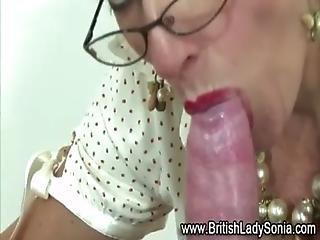 Mature femdom bondage cock jerking