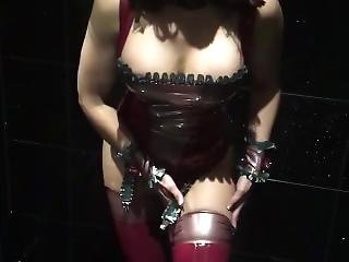 Slipping Out Of Latex Stockings