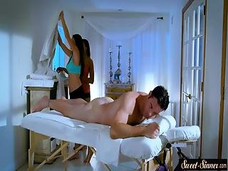 Classy Milf Pussyfucked By Lucky Masseur