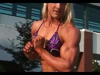 Lindsey Cope Flexing