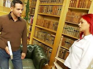 μεγάλο βυζί, αγγλικό, γαμήσι, σκληρό, βιβλιοθηκάριος, milf