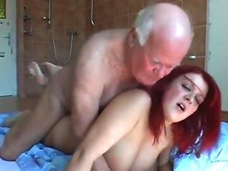 Old man fucks his busty in-law