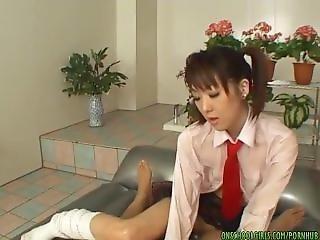 Young Sana Nakajima With Pigtails Gives A Smoking Hot Blowjob