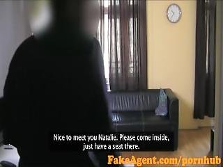 Fakeagent Busty Blonde%27s Dangerous Tight Pussy Makes Cum Quick