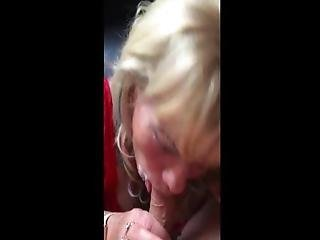 56 Year Old Granny Prostitute Gets Facial