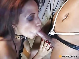 Treated Her Cock With Her Mouth