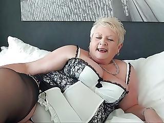 Blonde British Bbw Mature Loves 2 Men