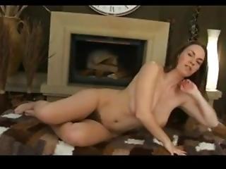 Beautiful Erin Eden Stripteese In Living Room