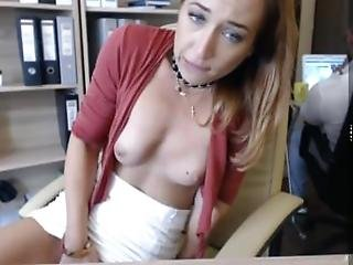 Orgasm In The Office