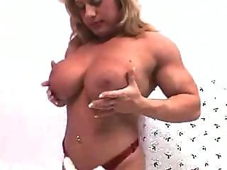 Cute blonde nude giving head