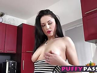 Sexy Asian Babe Fucks Her Tight Little Pussy With A Banana