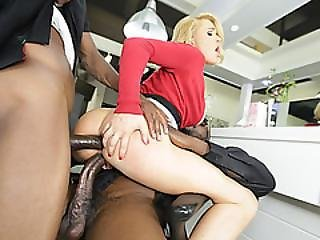 Double Penetration With Big Black Cock