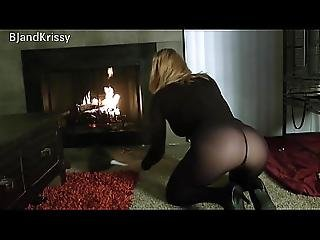 You Seduce Your Stepmom Krissy Lynn And Bang Her By The Fire