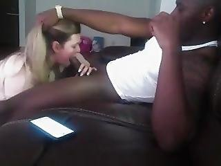 Cheating Wife Mouthful With A Big Black Cock