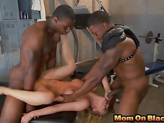 Blonde Milf Cheri Deville Threesome Black Dongs