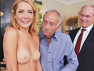 Raylin Ann Gets Gangbaged By Old Men
