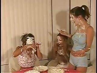 Jordan Capri And Her Friends Pie Each Other And Shower The Cream Off
