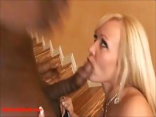 Nasty Blond Black Lovers With Big Ass Get Fucked And Facial