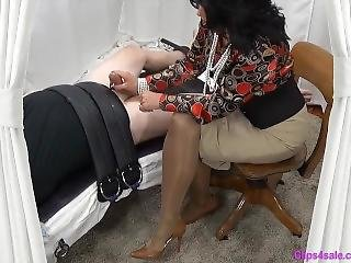 Mistress Mommy Gives Bound Sub Slow Handjob