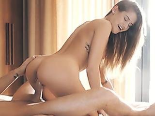 Wet Petite Brunette Teen Sucks And Rides Partners Cock
