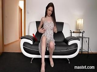 Stellar Czech Model Is Spreading Hairless Hole And Sneaks Bizzare Fuck Toy Tough Inside Having The Best Climax