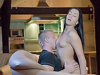 Hot Babe Anna Fucks Wildly Until She Gets Sprayed With Cum