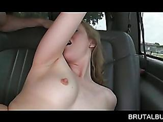 Lusty Blonde Gets Pink Snatch Deep Banged