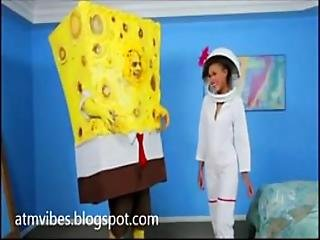 Teen Giving Head To Sponge Bob