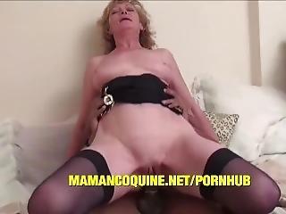 Grandma Ghislaine Gets A Big Black Cock