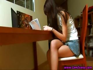 Teen Doing Her Homework