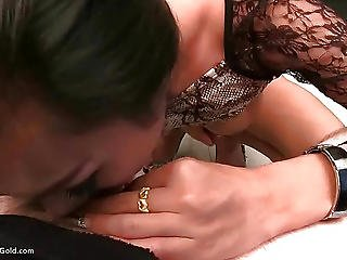 Ladyboy Cindy Snakeskin Dress Blowjob