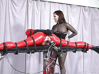 Bdsm, Bondage, Fucking, Fuckingmachine, Latex, Strapon