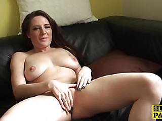 Squirting Skank Licking Her Juice Off Couch