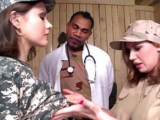 Military Doctor Franco Roccaforte Gives An Examination To The Delectable Soldier Tina Kay But He Cant Keep Up His Stern Nononsense Demeanor
