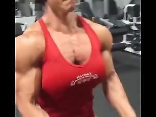 Pumping Her Beefy Body