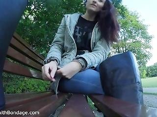 Sophia Smith Public Outdoor Bondage