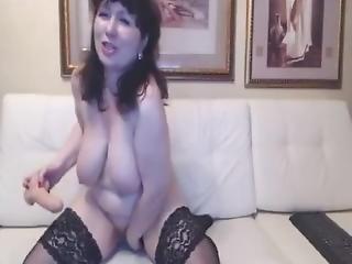 Sexy Ukrainian Granny Cumming Hard On Cam