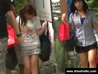 Public Sex In Japan - Cute Teen Asians Outdoor Fuck 02
