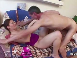 Old Man Seduce 18yr Old Skinny Teen To Fuck For Money