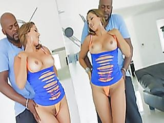 Monster Black Cock Going Deep In A Busty Brunette Babe