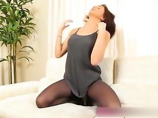 Provocative Brunette Milf In Too Short Minidress Upskirt Thong Flashing !