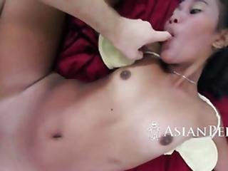 Barely Legal Exotic Chick Is Pleasing A Firm Fuck Stick